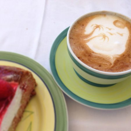 Saint John Hotel Villas & Spa: Breakfast - Cappuccino