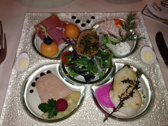 Hotel Obere Linde : tasting plate - yummy