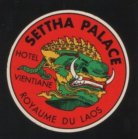 Settha Palace Hotel luggage label ca. 1960