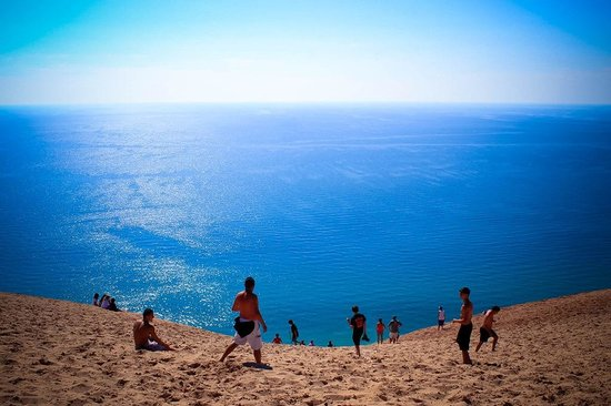 Empire sleeping bear dunes picture of empire lakeshore for Best shore fishing in michigan