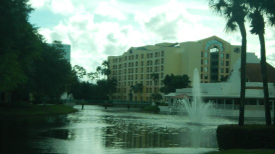 Hilton Boca Raton Suites: back view of hilton