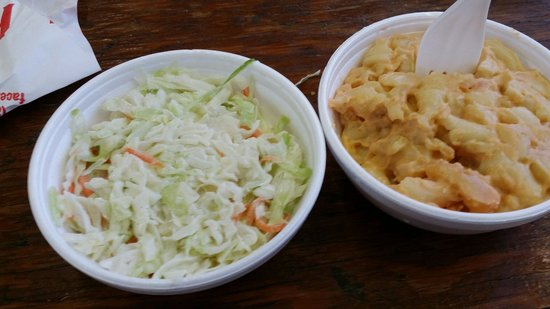 Full Service BBQ : Homemade coleslaw and macaroni and cheese