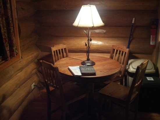 River Dance Lodge: Inside the well appointed Naturalist Cabin