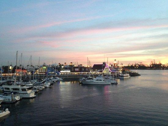 Hyatt Regency Long Beach: View of the Long beach Sea Village and harbor