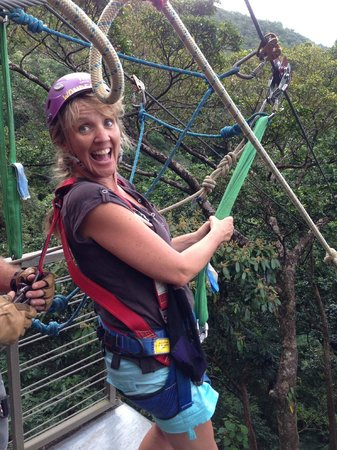 Jungle Surfing Canopy Tours: Off we go...