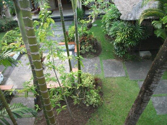 Karma Royal Jimbaran: Pristine gardens from balcony