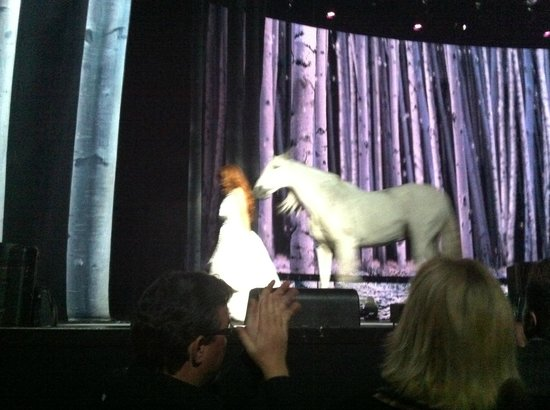 Shania: Still the One - The Colosseum: beautiful shania and her white horse