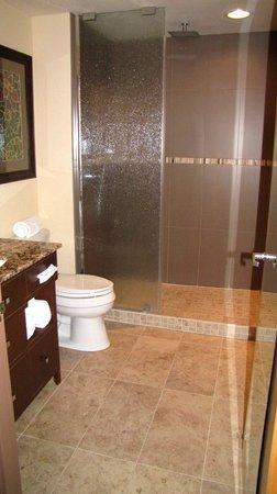 Big 2-person shower in bathroom