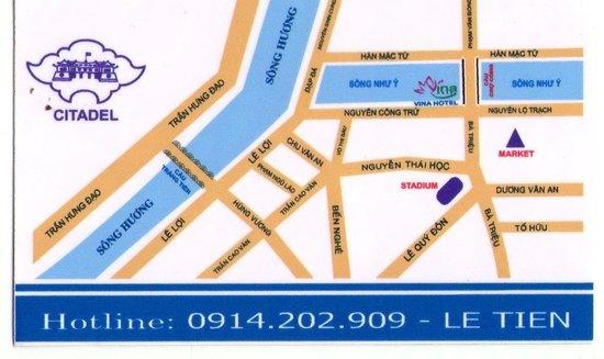 Vina Hotel Hue: Small map