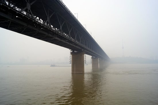 Wuhan Yangtze River Bridge southern view
