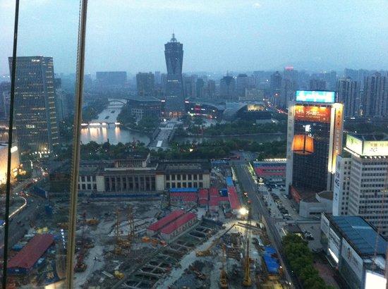 View from the top floor Revolving Restaurant, Hangzhou Hotel