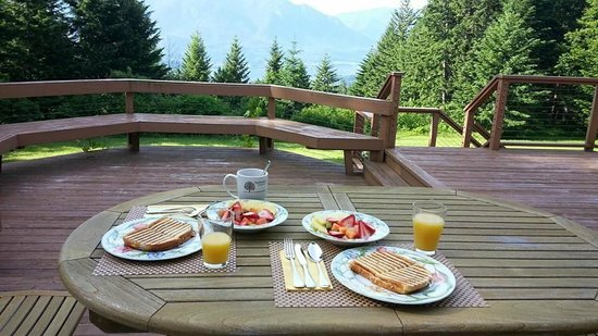 Rivermist Mountain Top Estate: Breakfast with a view day 2
