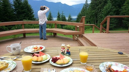 Rivermist Mountain Top Estate: Breakfast with a view day 3