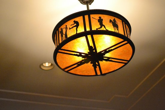 The Grill on the Alley: Light fixture in the Grill