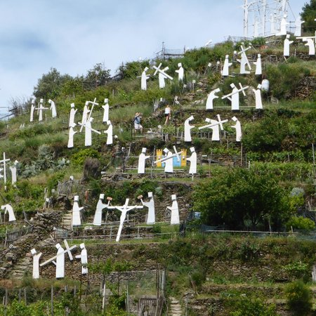 Shore Excursions in Italy : side hill of the village - these are lit up at night...so pretty