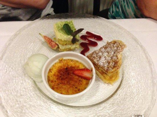 Quierschied, Tyskland: Dessertvariation (€ 6,50)