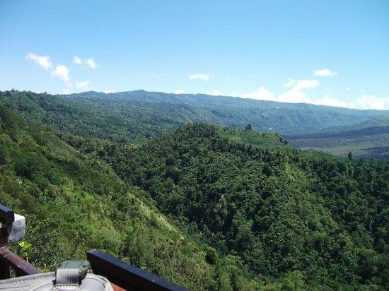Batur Sari Restaurant : View from balcony looking West