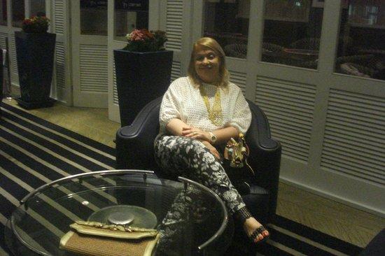 Rio Design Hotel : Na recepção do hotel