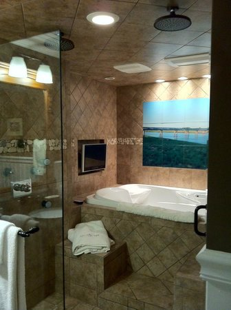 Gazebo Inn Ogunquit : Bathtub in Shower