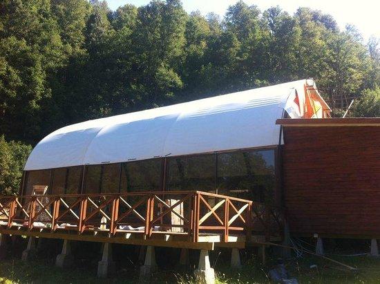 Lemu Lodge Caburgua: club House del Lemu Lodge