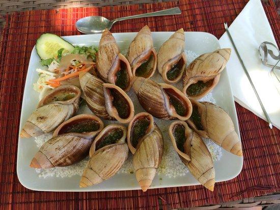 Oure Tera Beach Resort : ここの島のエスカルゴw