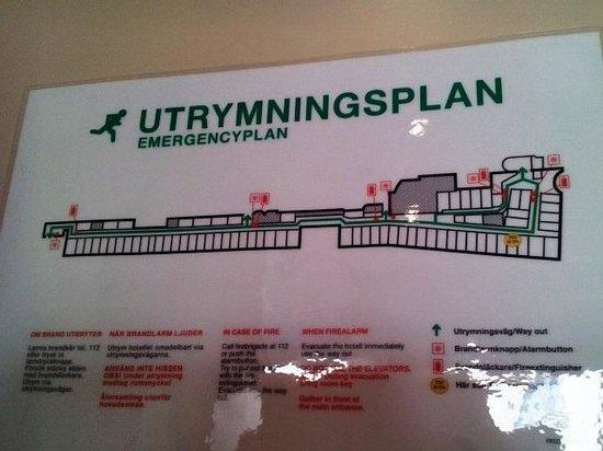 Comfort Hotel Stockholm: Emergency plan