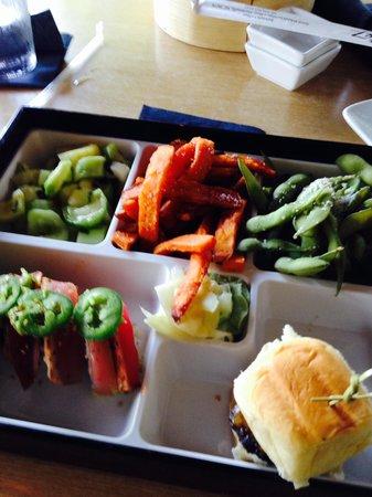 The Cowfish Sushi Burger Bar : Sample platter:)