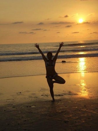 The Bodhi Tree Yoga Resort : Sunset, sand and yoga.  What could be better?
