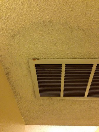 Rodeway Inn & Suites: Water stains around the vent.