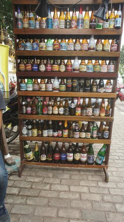 Chokdee Cafe & Belgian Beer Bar: Some of the boutique beers available at Chokdee