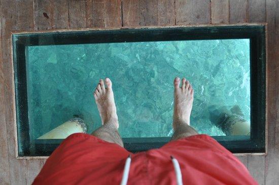 JA Manafaru : Glass floor lounge room