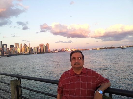 Liberty State Park: me in jersey state park with newyork skyline in background