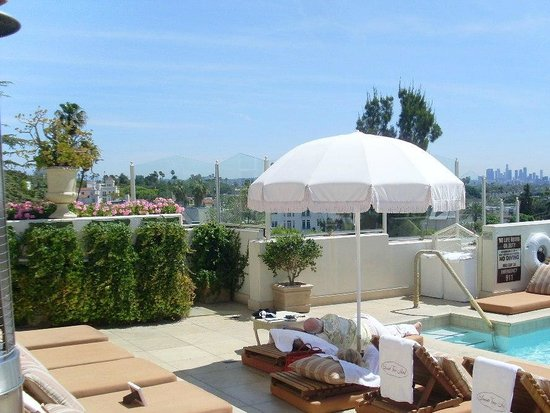 Sunset Tower Hotel : Roof top terrace and pool