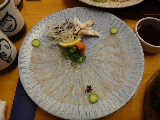 Hotel Nikko Osaka: Very tasty pufferfish, must try in Osaka