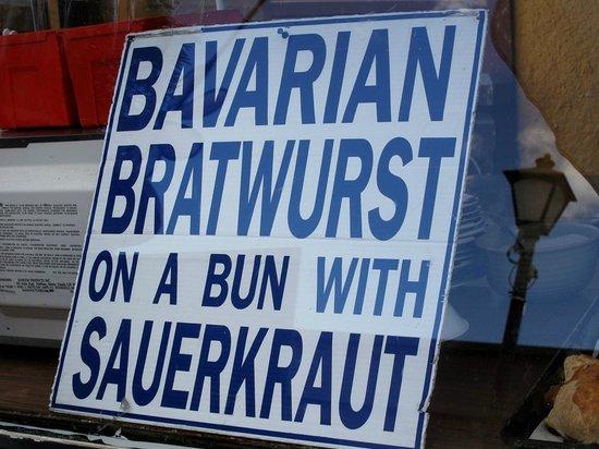 Chef Bernard's Platzl Inn: Menü Bratwurst