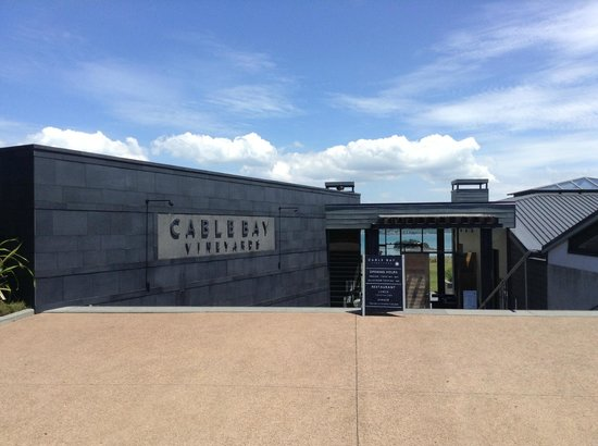 Cable Bay Vineyards Winery and Restaurant : 建物入口