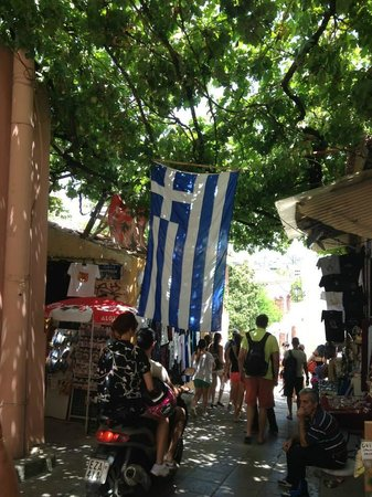 Plaka District: Spent the day walking around the Plaka area with its many souvenir shops and tavernas
