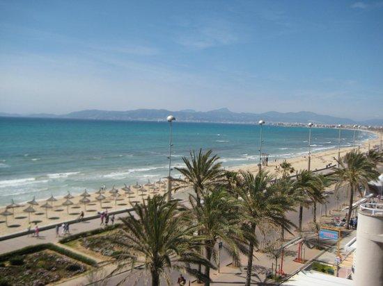 AYA Hotel: Blick vom Balkon Richtung Palma