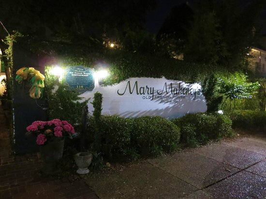 Mary Mahoney's Old French House: Main entrance