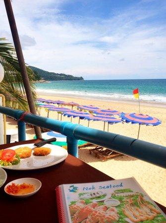 Nok Seafood Restaurant : Right on Surin beach Very tasty!