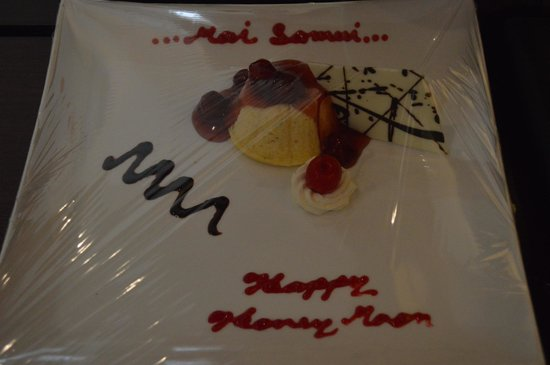 Mai Samui Resort & Spa: honeymoon welcome cake,yummy