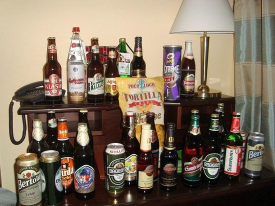 Hostel Downtown: Мои запасы пива в первый день ))