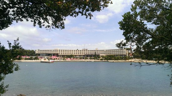 Island Hotel Istra: View from small Island towards Hotel