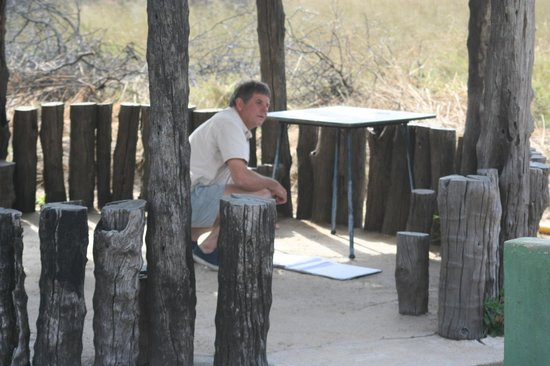 The Hide : Alistair signing the National Parks Gate Book