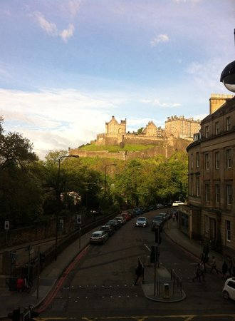 Waldorf Astoria Edinburgh - The Caledonian: Edinburgh Castle as seen from my hotel room, level E