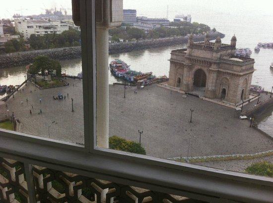 The Taj Mahal Palace: Gate of India (with wire net to keep birds away)