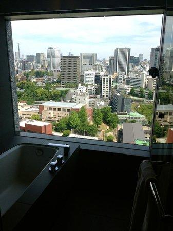 The Capitol Hotel Tokyu : Blick aus dem Bad