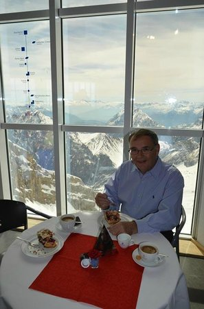 Zugspitze: cafe with a view to die for!