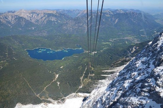 Zugspitze: lake Eibsee as you go down in the cable car.. great to walk around