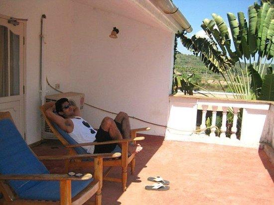 Cavala Seaside Resort: 1st floor room balcony at banana republic_Feb 2011